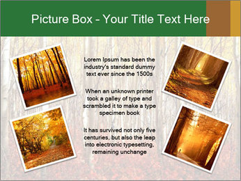 Yellow aspens PowerPoint Template - Slide 24