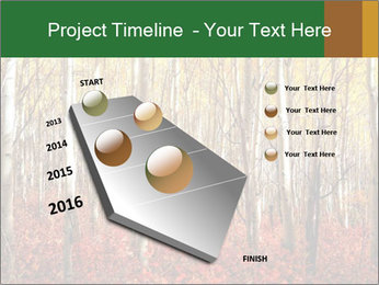 Yellow aspens PowerPoint Template - Slide 26
