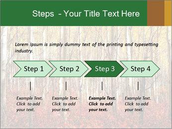 Yellow aspens PowerPoint Template - Slide 4