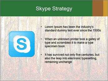 Yellow aspens PowerPoint Template - Slide 8