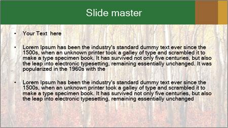 Yellow aspens PowerPoint Template - Slide 2