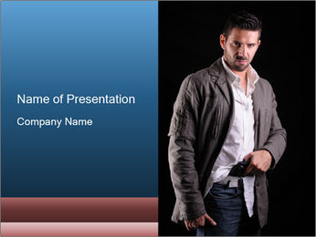 Gangster PowerPoint Template - Slide 1