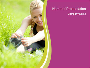 Attractive Woman PowerPoint Templates - Slide 1