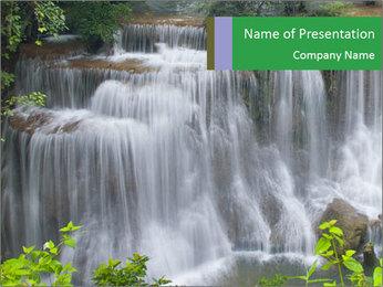 Water fall PowerPoint Template - Slide 1