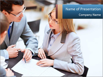 Business people PowerPoint Template - Slide 1
