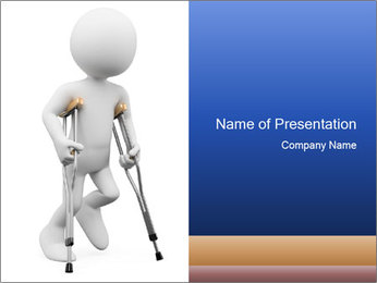 3d white person PowerPoint Template - Slide 1