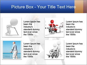 3d white person PowerPoint Template - Slide 14