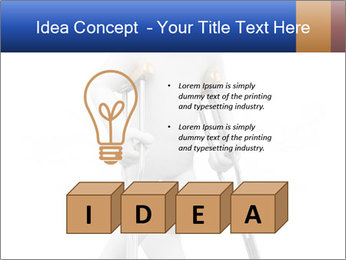 3d white person PowerPoint Template - Slide 80