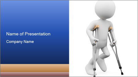 3d white person PowerPoint Template