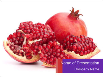 Ripe pomegranate PowerPoint Template - Slide 1