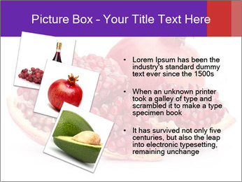Ripe pomegranate PowerPoint Template - Slide 17