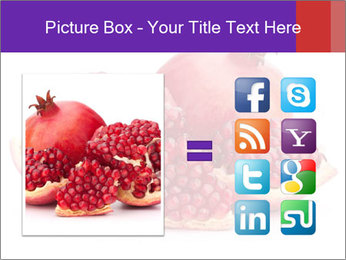Ripe pomegranate PowerPoint Template - Slide 21