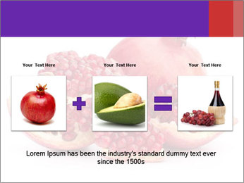 Ripe pomegranate PowerPoint Template - Slide 22