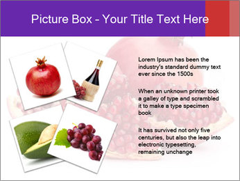 Ripe pomegranate PowerPoint Template - Slide 23