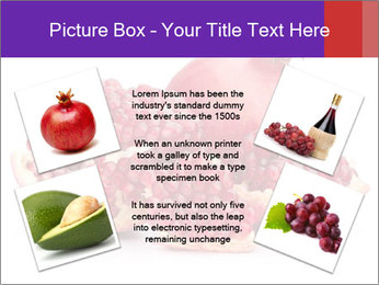 Ripe pomegranate PowerPoint Template - Slide 24
