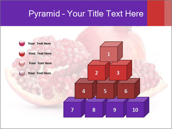 Ripe pomegranate PowerPoint Template - Slide 31