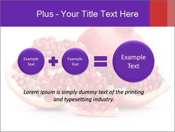 Ripe pomegranate PowerPoint Template - Slide 75