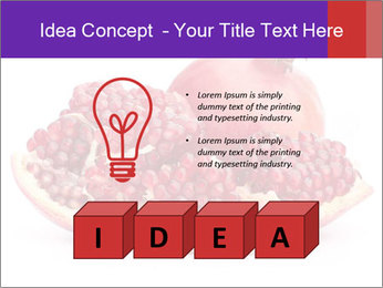 Ripe pomegranate PowerPoint Template - Slide 80
