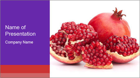 Ripe pomegranate PowerPoint Template