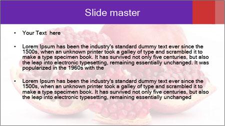 Ripe pomegranate PowerPoint Template - Slide 2