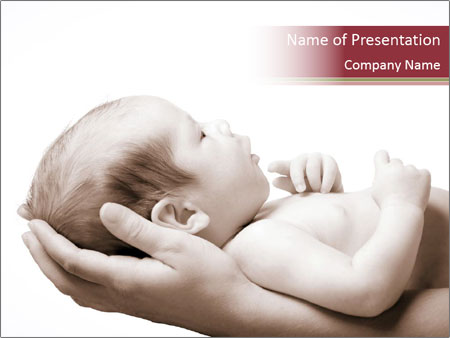 Little baby held PowerPoint Template