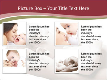 Little baby held PowerPoint Template - Slide 14