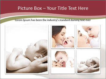 Little baby held PowerPoint Template - Slide 19