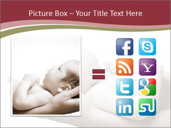 Little baby held PowerPoint Template - Slide 21