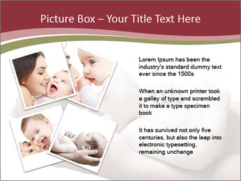 Little baby held PowerPoint Template - Slide 23
