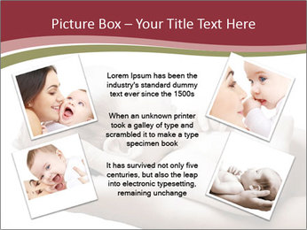Little baby held PowerPoint Template - Slide 24
