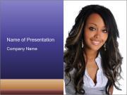 Beautiful American woman PowerPoint Templates