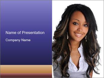 Beautiful American woman PowerPoint Template - Slide 1