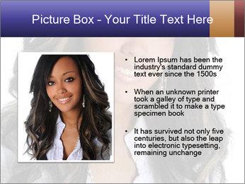 Beautiful American woman PowerPoint Template - Slide 13