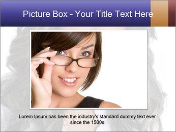 Beautiful American woman PowerPoint Template - Slide 15