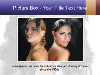 Beautiful American woman PowerPoint Template - Slide 16