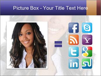 Beautiful American woman PowerPoint Template - Slide 21