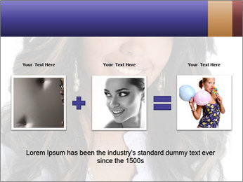 Beautiful American woman PowerPoint Template - Slide 22