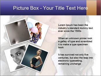 Beautiful American woman PowerPoint Template - Slide 23