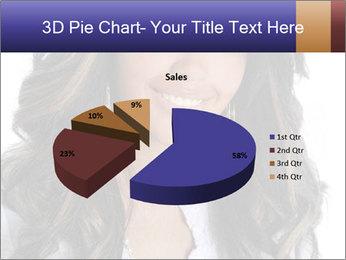 Beautiful American woman PowerPoint Template - Slide 35