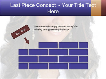 Beautiful American woman PowerPoint Template - Slide 46