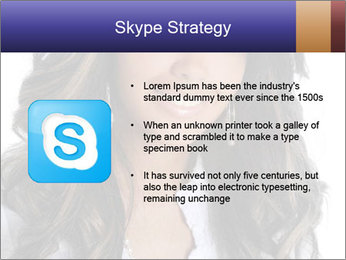 Beautiful American woman PowerPoint Template - Slide 8