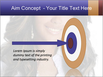 Beautiful American woman PowerPoint Template - Slide 83