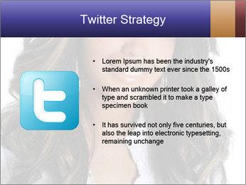 Beautiful American woman PowerPoint Template - Slide 9