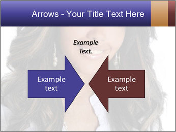 Beautiful American woman PowerPoint Template - Slide 90