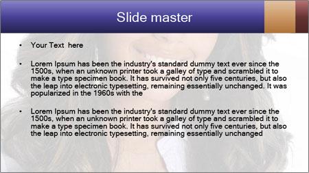 Beautiful American woman PowerPoint Template - Slide 2
