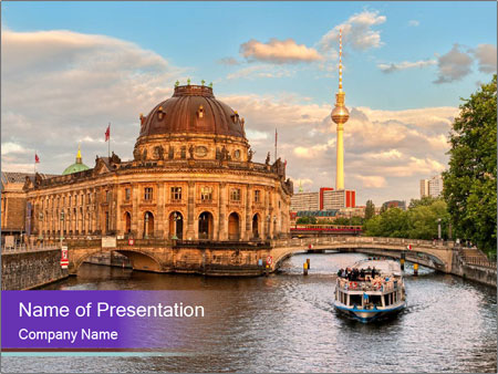 Museum island PowerPoint Template