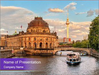Museum island PowerPoint Template - Slide 1