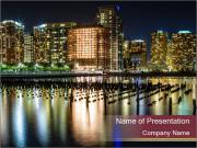 Newport section of Jersey City PowerPoint Templates