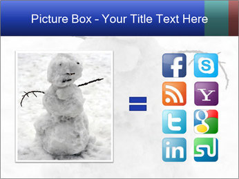 A lonely snowman PowerPoint Template - Slide 21