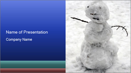 A lonely snowman PowerPoint Template